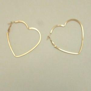 Jewelry - Heart Earrings: Heart of Gold Earrings